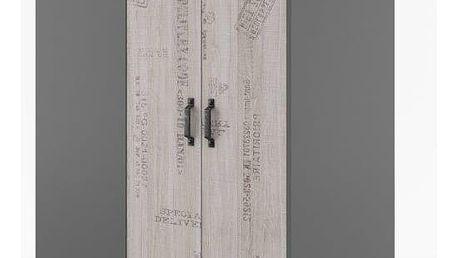 Rohová šatní skříň SANTANA SA-00P