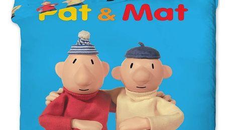 Jerry Fabrics Povlečení Pat a Mat blue-bavlna 140x200 70x90