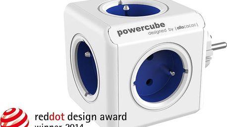 PowerCube ORIGINAL rozbočka-5ti zásuvka, modrá