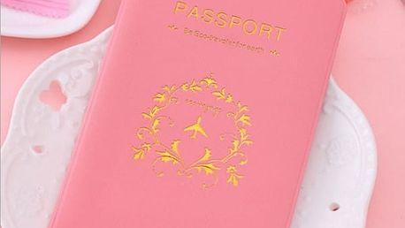 Barevný obal na cestovní pas s organizérem na karty