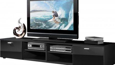 Easy - TV stolek, 3666-83 (černá/černá vysoký lesk)