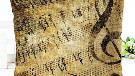 Povlak na polštář s hudebními motivy - 9 variant