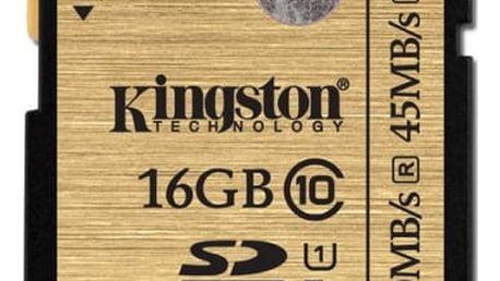 Paměťová karta Kingston 16GB UHS-I U1 (90R/45W) (SDA10/16GB)