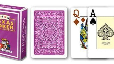 Modiano 2 rohy 100% plastové karty - Fialové