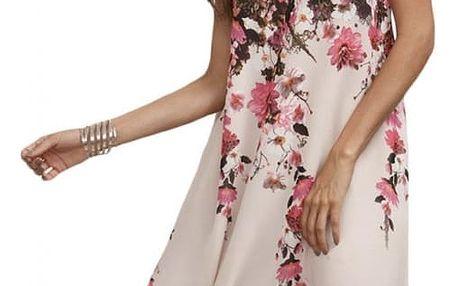Dámské šaty s kvítky bez rukávů- velikost 4 - dodání do 2 dnů