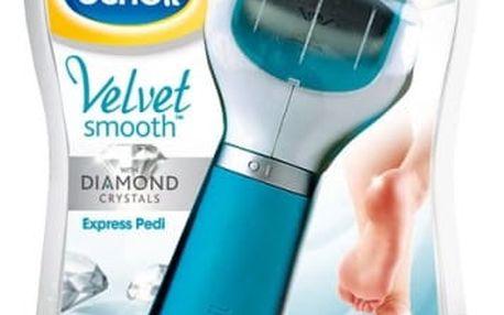 Elektrický pilník na chodidla Scholl Velvet Smooth Diamond modrý + dárek