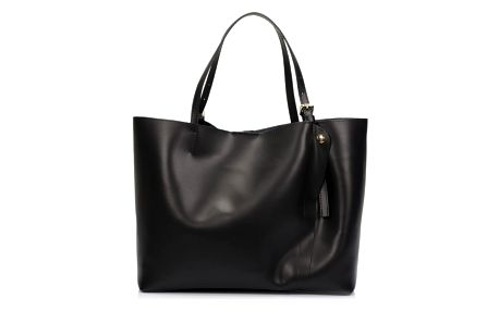 Černá kožená kabelka Lisa Minardi Eunice - doprava zdarma!