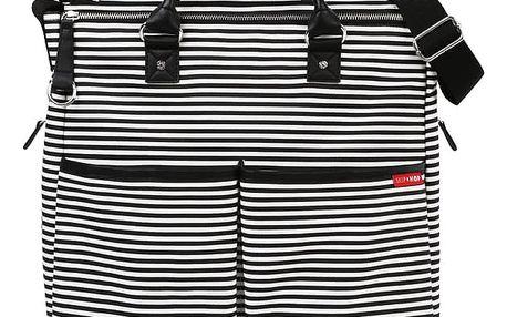 SKIP HOP Přebalovací taška s podložkou Duo Signature SE, černý proužek