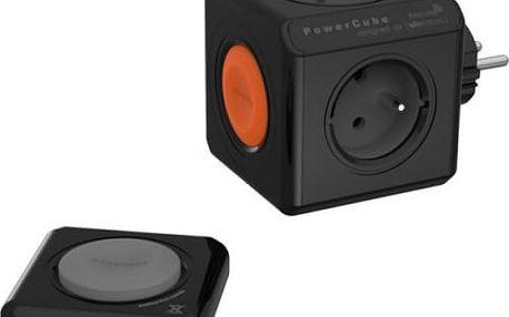 Zásuvka Powercube Original Remote Set, 4x zásuvka + ovladač černá