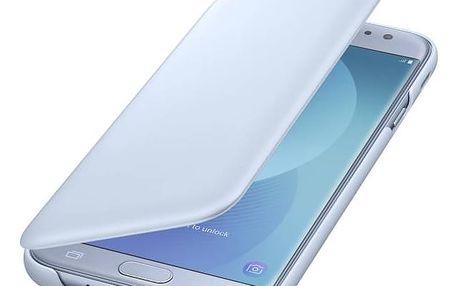 Pouzdro na mobil flipové Samsung Wallet Cover pro J5 (2017) (EF-WJ530CLEGWW) modré