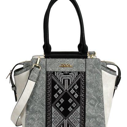 Doca šedo-béžová elegantní kabelka