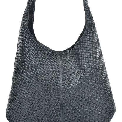 Černá kožená kabelka Mangotti Bags Abelie - doprava zdarma!