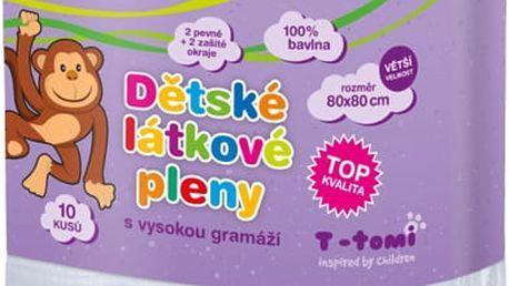T-TOMI Látkové TETRA pleny 80x80 cm, 10 kusů