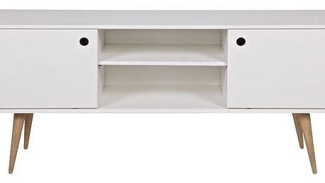 Bílý TV stolek De Eekhoorn Retro - doprava zdarma!
