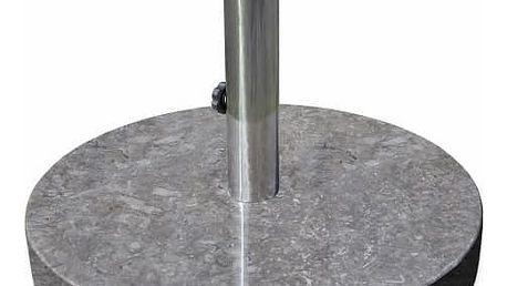 Garthen 2197 Stojan na slunečník z mramoru a ušlechtilé oceli, kulatý, 25 kg