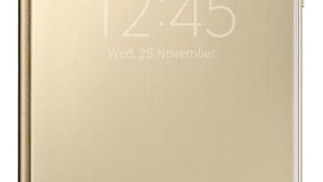 Pouzdro na mobil flipové Samsung pro Galaxy A5 2016 (EF-ZA510C) (EF-ZA510CFEGWW) zlaté