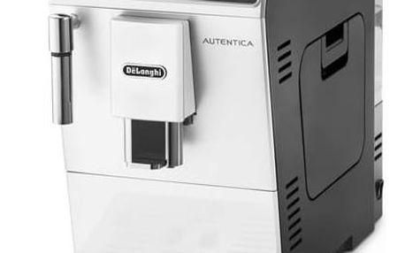 Espresso DeLonghi Autentica ETAM29.510.WB černé/bílé + Káva DeLonghi Kimbo 100% Arabica 1kg zrnková v hodnotě 599 Kč+ Káva BIO zrnková Uganda 250 g Simon Lévelt v hodnotě 159 Kč + Doprava zdarma