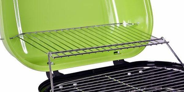 Kufříkový gril na dřevěné uhlí Gart - zelený2