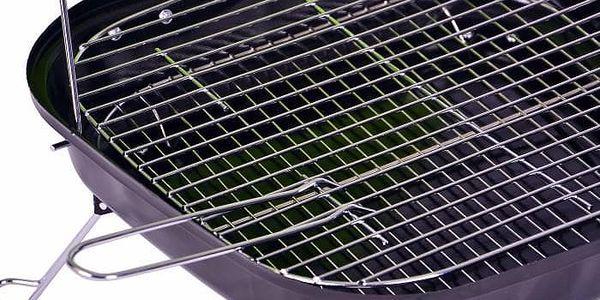 Kufříkový gril na dřevěné uhlí Gart - zelený4