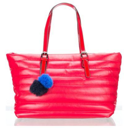 Co & Coo Fashion Dámská prošíváná kabelka s bambulí velká