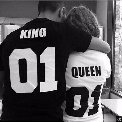 Stylové tričko pro páry i jednotlivce - King 10 - Velikost 5 - dodání do 2 dnů