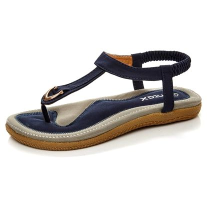 Pohodlné a měkké dámské sandály - modré, vel. 36