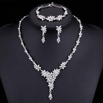 Svatební sada šperků ve tvaru kytiček