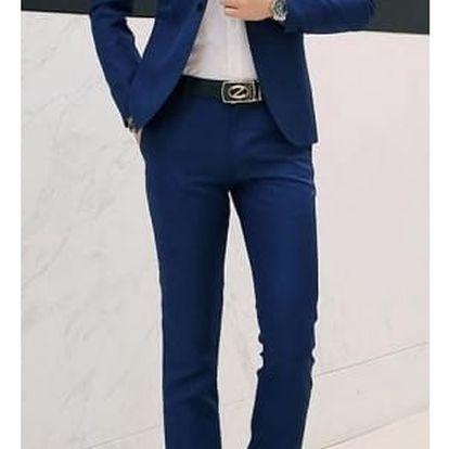 Pánský oblek - Modrá-velikost č. 5
