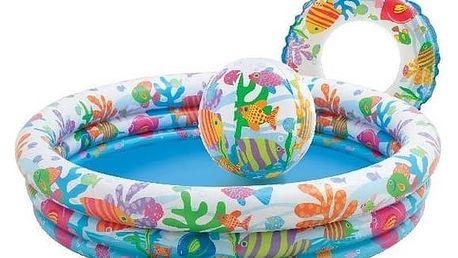 INTEX 59469 Rybičky set (bazén+míč+kruh)