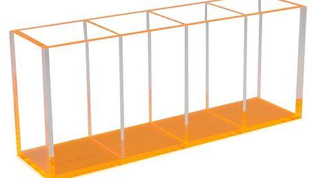 Kelímek na tužky se 4 přihrádkami s oranžovým dnem Lund London Flash Blocco
