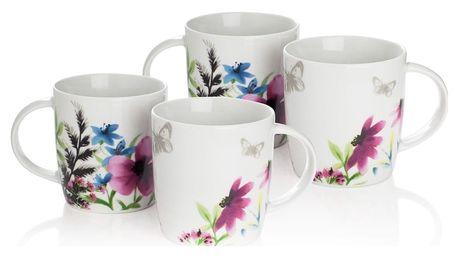 Sada 4 porcelánových hrnků Sabichi Lydia, 360 ml