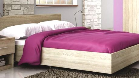Manželská postel ROMA LUX 160x200 cm s roštem