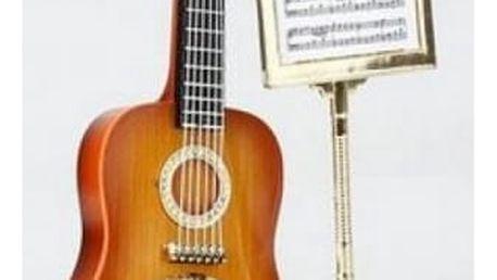 Budík v podobě kytary - dodání do 2 dnů