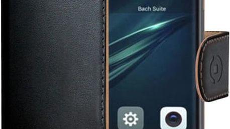 CELLY Wally pouzdro typu kniha pro Huawei Y6 II Compact, PU kůže, černé - WALLY608
