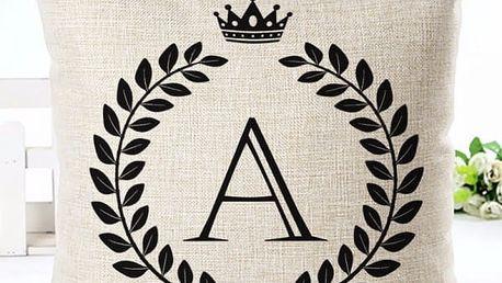 Povlak na polštář s písmeny abecedy
