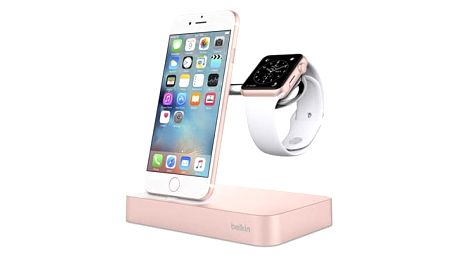Belkin nabíjecí stojánek pro Apple Watch + iPhone - růžově zlatá - F8J183vfC00