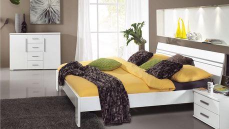 Dvoulůžková postel BIANCA 160x200 cm + 2 noční stolky