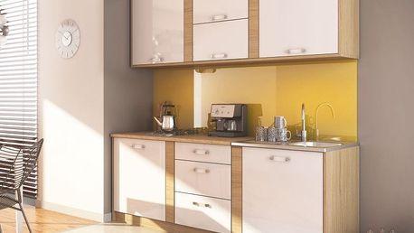 Moderní kuchyňská linka IBERIA 220 sonoma/bílá mat
