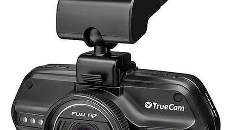 Autokamera TrueCam A5S černá Reflexní vesta TrueCam, žlutá (zdarma) + Doprava zdarma
