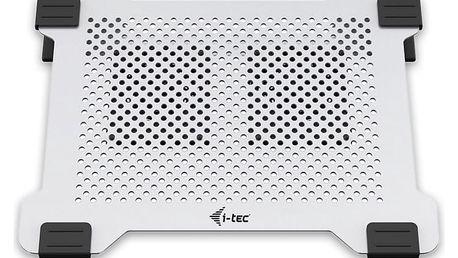 iTec Aluminium Laptop Cooling Pad chladící podložka pro notebooky se dvěma ventilátory - COOLPAD