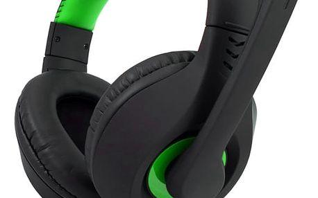 C-TECH Nemesis V2 GHS-14G Herní sluchátka černo-zelená