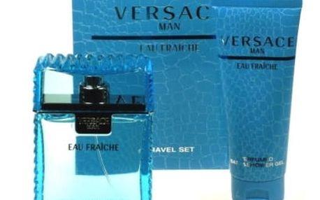 Versace Man Eau Fraiche dárková kazeta pro muže toaletní voda 100 ml + sprchový gel 100 ml