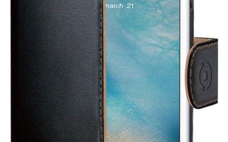 CELLY Wally pouzdro typu kniha pro Apple iPhone 7, PU kůže, černá - WALLY800
