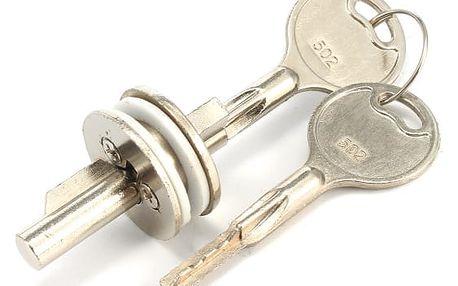 Zámek s klíči pro posuvné vitríny