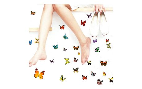Barevní samolepící motýlci na zeď - 81 kusů - dodání do 2 dnů