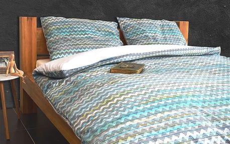 Italské povlečení 100% bavlna LUX Persia modrá