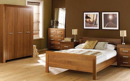 Moderní jednolůžková postel WAVERLEY vč. roštu