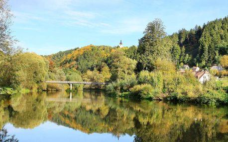 Pobyt pro dva s polopenzí na romantickém břehu řeky Sázavy pro aktivní turisty i ty, co rádi relaxují