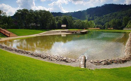 Léto v Levočské Dolině nedaleko od Slovenského ráje, s wellness, polopenzí a neomezeným vstupem na biokoupaliště
