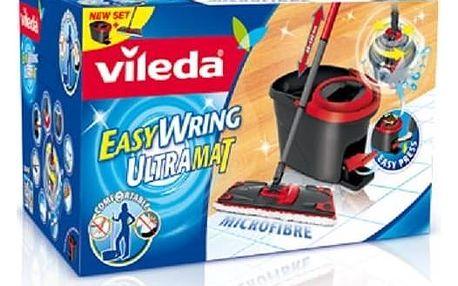 Mop sada Vileda Easy Wring UltraMat (133876) Čistící prostředek Ajax na podlahy (zdarma)